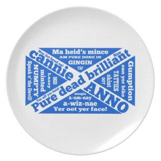 Scottish slang and phrases dinner plate