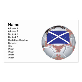 Scottish Soccer Ball Business Card