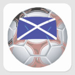 Scottish Soccer Ball Sticker