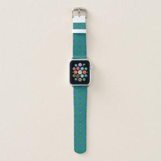 Scottish Style Clan Irvine Irwin Tartan Plaid Apple Watch Band