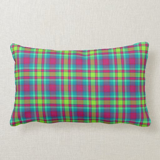 Scottish-style Tartan Plaid, crimson/green check Pillows