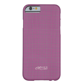 Scottish-style Tartan Plaid Monogram Barely There iPhone 6 Case