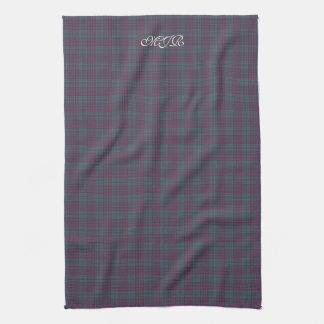Scottish-style Tartan Plaid Monogram Kitchen Towel