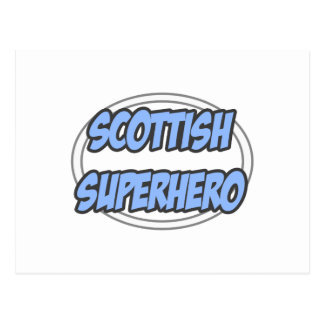 Scottish Superhero Post Cards
