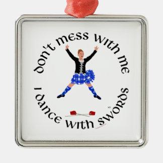 Scottish Sword Dancer - Ghillie Callum Metal Ornament