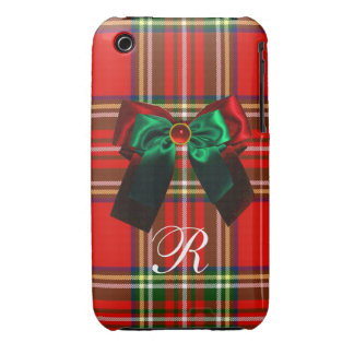 SCOTTISH TARTAN AND RED GREEN BOWS CHRISTMAS PARTY iPhone 3 Case-Mate CASE