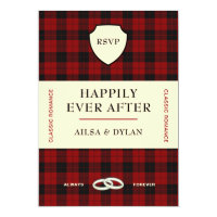 SCOTTISH TARTAN BOOK COVER | WEDDING RSVP INVITATION