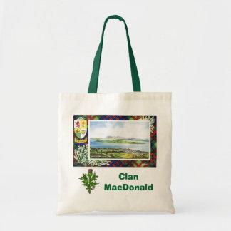 Scottish Tartan, Clan MacDonald, Budget Tote Bag