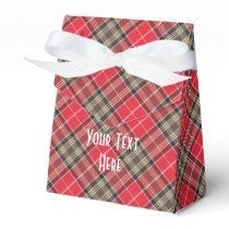 Scottish Tartan Clan Paid Pattern Personalized Favor Box