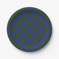 Scottish Tartan Clan Paid Patterned Paper Plate