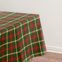 Scottish Tartan Clan Plaid Patterned Tablecloth