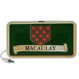 Scottish Tartan design - MacAulay - Personalise Portable Speaker