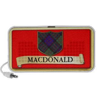 Scottish Tartan design - Macdonald - Personalise Speaker