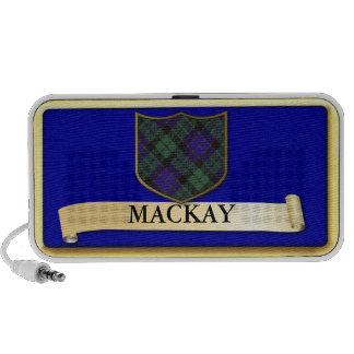 Scottish Tartan design - Mackay - Personalise Laptop Speakers