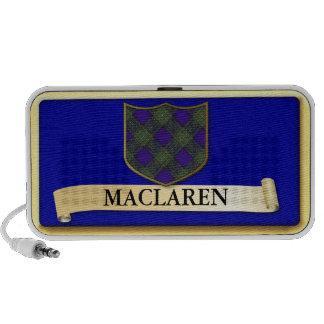 Scottish Tartan design - Maclaren - Personalise Mini Speakers