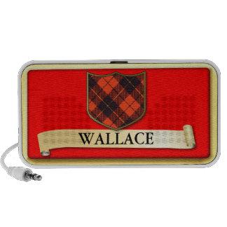 Scottish Tartan design - Wallace - Personalise Travel Speakers