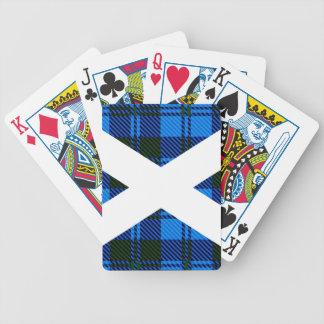 Scottish Tartan Flag Bicycle Playing Cards