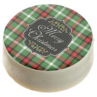 Scottish Tartan Plaid Merry Christmas Oreo Cookies