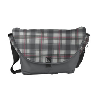 Scottish tartan plaid pattern messenger bag