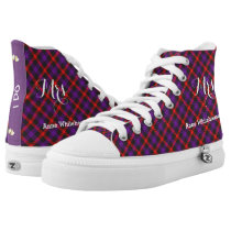 Scottish Tartan Plaid Personalized Brides Wedding High-Top Sneakers