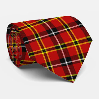Scottish Tartan Plaid Red Black Yellow Celtic tie
