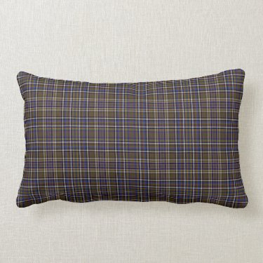 Scottish Tartan Plaid with brown and tan checks Pillow
