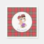 Scottish Tartan  Thistle Baby Shower Personalized Paper Napkin