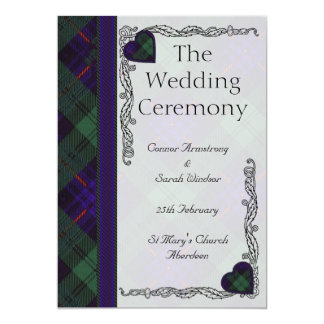Scottish Tartan Wedding program - Armstrong