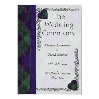 Scottish Tartan Wedding program - Armstrong 5x7 Paper Invitation Card