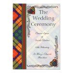Scottish Tartan Wedding program - Buchanan Custom Invitations