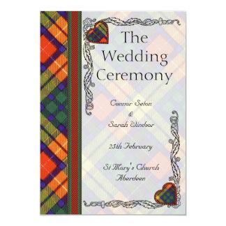 Scottish Tartan Wedding program - Buchanan 5x7 Paper Invitation Card