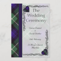 Scottish Tartan Wedding program - Lamont