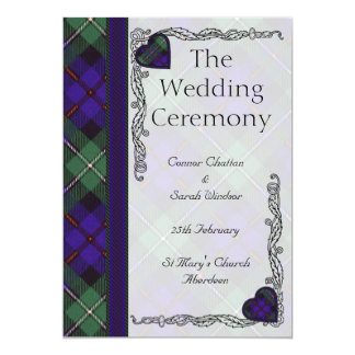 Scottish Tartan Wedding program - Mackenzie Card