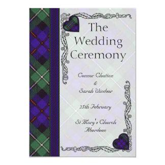 Scottish Tartan Wedding program - Mackenzie 5x7 Paper Invitation Card