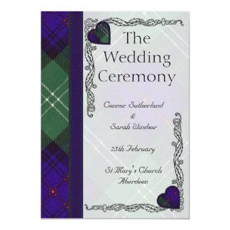 Scottish Tartan Wedding program - Sutherland 5x7 Paper Invitation Card