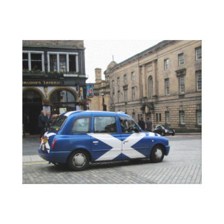Scottish Taxi Canvas Print