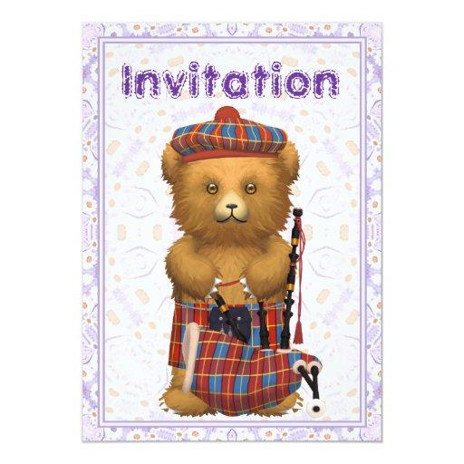 Scottish Teddy Bear Invitation