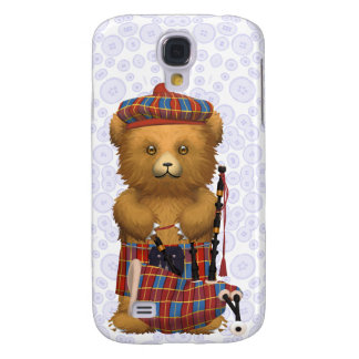 Scottish Teddy Bear  - Light blue Galaxy S4 Cover