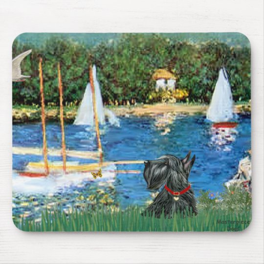 Scottish Terrier 12 - Sailboats Mouse Pad