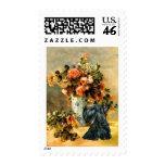 Scottish Terrier 12 - Vase of Flowers Postage Stamps