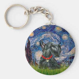 Scottish Terrier 12c -Starry Night Keychains