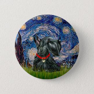 Scottish Terrier 12c -Starry Night Pinback Button