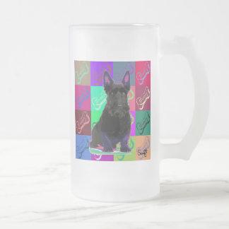 Scottish Terrier 16 Oz Frosted Glass Beer Mug