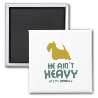Scottish Terrier 2 Inch Square Magnet