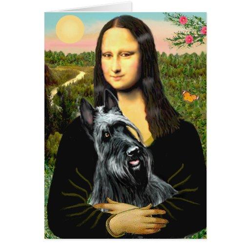 Scottish Terrier 3 - Mona Lisa Card