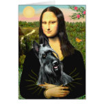 Scottish Terrier 3 - Mona Lisa Greeting Card