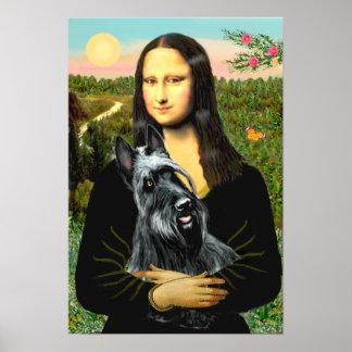 Scottish Terrier 3 - Mona Lisa Posters