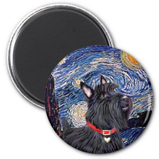 Scottish Terrier 6 - Starry Night (Vertical) Magnet
