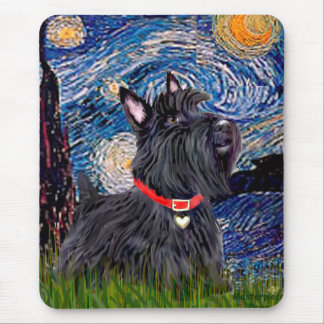 Scottish Terrier 6 - Starry Night (Vertical) Mouse Pad