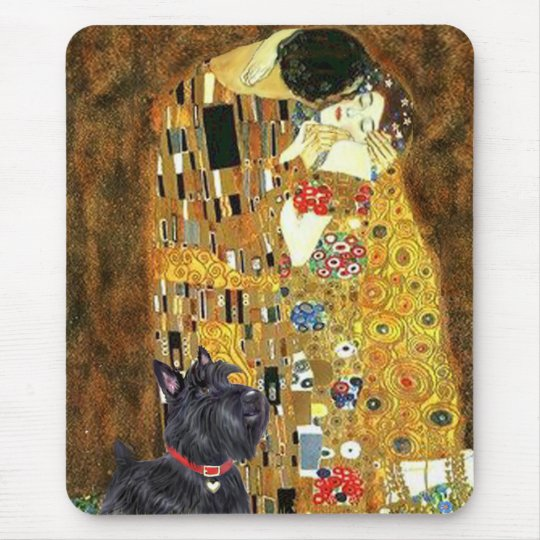 Scottish Terrier 6 - The Kiss Mouse Pad